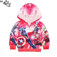 Children's Long Sleeves Hoodie The Avengers Pattern Decorated Jacket