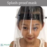 Wanita Masker Pelindung Wajah Transparan Dapat Diputar untuk Pria /