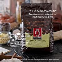 Tulip Dark Compound Coin Chocolate 2,5kg Cokelat Coklat Baking Coin