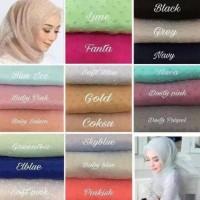 Terbaru Jilbab Organza Dot Harga Obral Warna Random Berkualitas