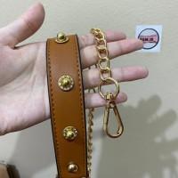 Aksesoris tas bag strap chain rantai dengan shoulder pad studs