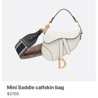 Bag strap dior saddle mirror1:1 tali tas black