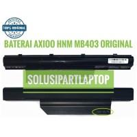 BATERAI AXIOO HNM MB403 ORIGINAL JUAL MURAH KUNCIAN PATAH