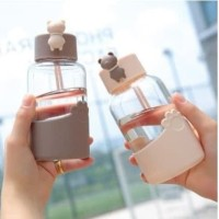 BOTOL MINUM AIKESI X8130 JUMPING BEAR 340ml
