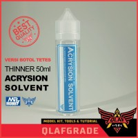 THINNER ACRYLIC 50 ml - ACRYSION THINNER BOTOL TETES