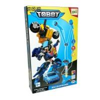 Mainan Anak Microphone Single Mic Tobot Robot Biru Karaoke Nyanyi Duet