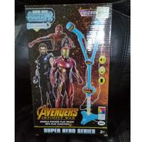 Mainan Anak Double Microphone Tiang Avengers Infinity War Karaoke Game