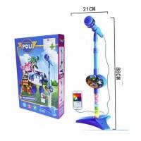 Robocar POLI Microphone Anak Mainan Mic Microphone Kabel MP3 8026