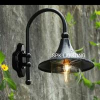 Lampu dinding outdoor LD 1038 Q BK