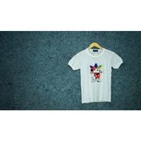 Atasan Baju Kaos T-Shirt Lengan Pendek Wanita Hight Quality - Import