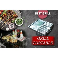 Box Panggangan Stainless Portable / Panggangan Daging - Ikan - BBQ