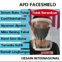 APD Face Shield, Bisa Buka Tutup, Dicuci/Disinfektasi, Nyaman!