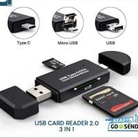 USB C CARD READER 2.0 MICRO USB 3in1 MICRO SD CARD READER USB C OTG
