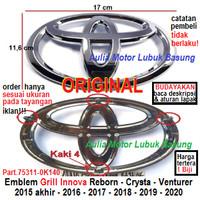 emblem logo grill original toyota 17 innova reborn crysta venturer dll