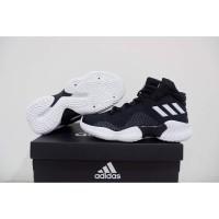 Sepatu Basket Adidas Pro Bounce 2018 High Black White