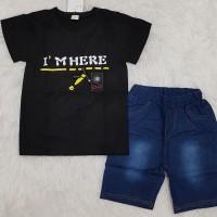 Baju Setelan Anak Laki laki Setelan Kaos Import 3D colourfull