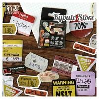 Sticker Deco American Tag Retro Scrapbook DIY Planner Bujo Journal