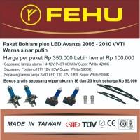 Paket bohlam plus LED Avanza VVTI 2005 - 2010 Warna sinar putih