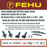 Paket bohlam plus LED Grand new Avanza Veloz 1.3 dan 1.5 Sinar putih