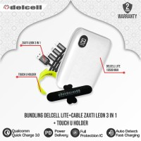 [Bundling] Delcell Lite Qc-PD + Kabel Leon 3in1 + Touch holder Delcell