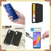 Samsung A01 Case Casing 4in1 3pcs Case 1 Pcs Tempered Glass NewPaket