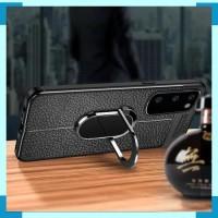 Case Samsung Note 10 Lite Auto Focus Holder Magnetik Ring Stand Hitam