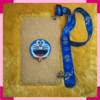 Samsung Tab A 8.0 2019 SMP205 P200 Case 3D Doraemon + Tali Slempang