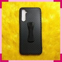 Realme 6 Pro Realme6 Pro Case Softcase Carbon Ver2 Sling Grip Stand