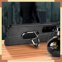 Case Samsung S10 Lite Auto Focus Holder Magnetik Ring Stand 360 Hitam