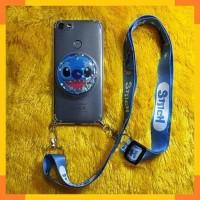 Luna G55 Lite Case Casing Karakter Cute 3D Water Glitter Tali HP Cute