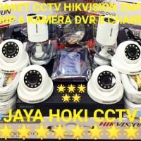 PAKET KAMERA CCTV HIKVISION 6 KAMERA 2MP 1080P FULL HD HIKVISION