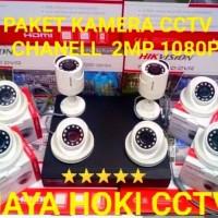 PAKET KAMERA CCTV HIKVISION 8 CHANELL 8 KAMERA FULL HD 1080P 2MP