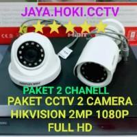 PAKET KAMERA CCTV HIKVISION 2 KAMERA 2MP 1080P FULL HD HIKVISION