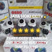 PAKET CCTV 8CH 6BUAH CAMERA 3MP 1080P FULL HARGA GROSIR