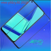 TEMPERED GLASS FOR VIVO Y50/Y30 2020 FULL SCREEN LIST HITAM