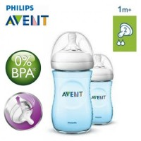 Philips Avent Natural 260ml Botol Susu Twin Pack - Blue