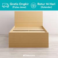 Dekoruma Moku Bed - Sandaran & Dipan Tempat Tidur Minimalis Laci - 120x200cm