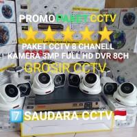 PAKET CCTV 8 CHANELL 8 KAMERA 3MP FULL HD KOMPLIT HDD 1TB