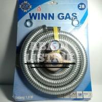 Selang gas regulator paket WINN GAS 1,8 meter SNI