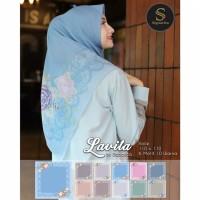 Lativa scarf / jilbab segiempat motif / hijab segiempat