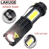 Paket Senter Pocketman LED CREE XML Q5 & COB 3800 Lumens Waterpro