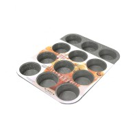 Krischef Loyang Kue Muffin Marble Coating 12 Cup