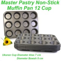 Loyang Kue Anti Lengket - Master Pastry Muffin Pan 12 Cup - 6 pcs