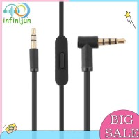 4.5ft 3.5mm Kabel Audio AUX Sudut Kanan Male ke Male dengan Mic