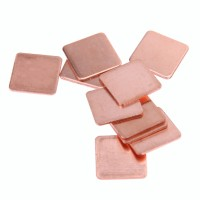 10 Pcs 15mmx15mm 0.3mm to 2mm Heatsink Copper Shim Thermal Pad untuk