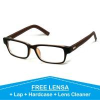 jual berbagai model frame dan lensa Frame Kacamata Korea Kulit Minus