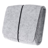 BOOM Power Bank Storage Bag Felt Pouch For Data Cable Mouse Travel