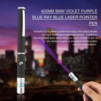 Pen Laser Pointer Warna Biru / Violet 5mw 405nm