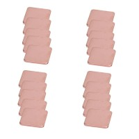 20Pcs 15mmx15mm 0.3mm to 2mm Heatsink Copper Shim Thermal Pads untuk