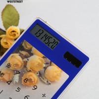 Ws @ Kalkulator Ultra Tipis Transparan Tenaga Surya